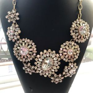 💗JCrew Crystals Rhinestone statement Necklace💗